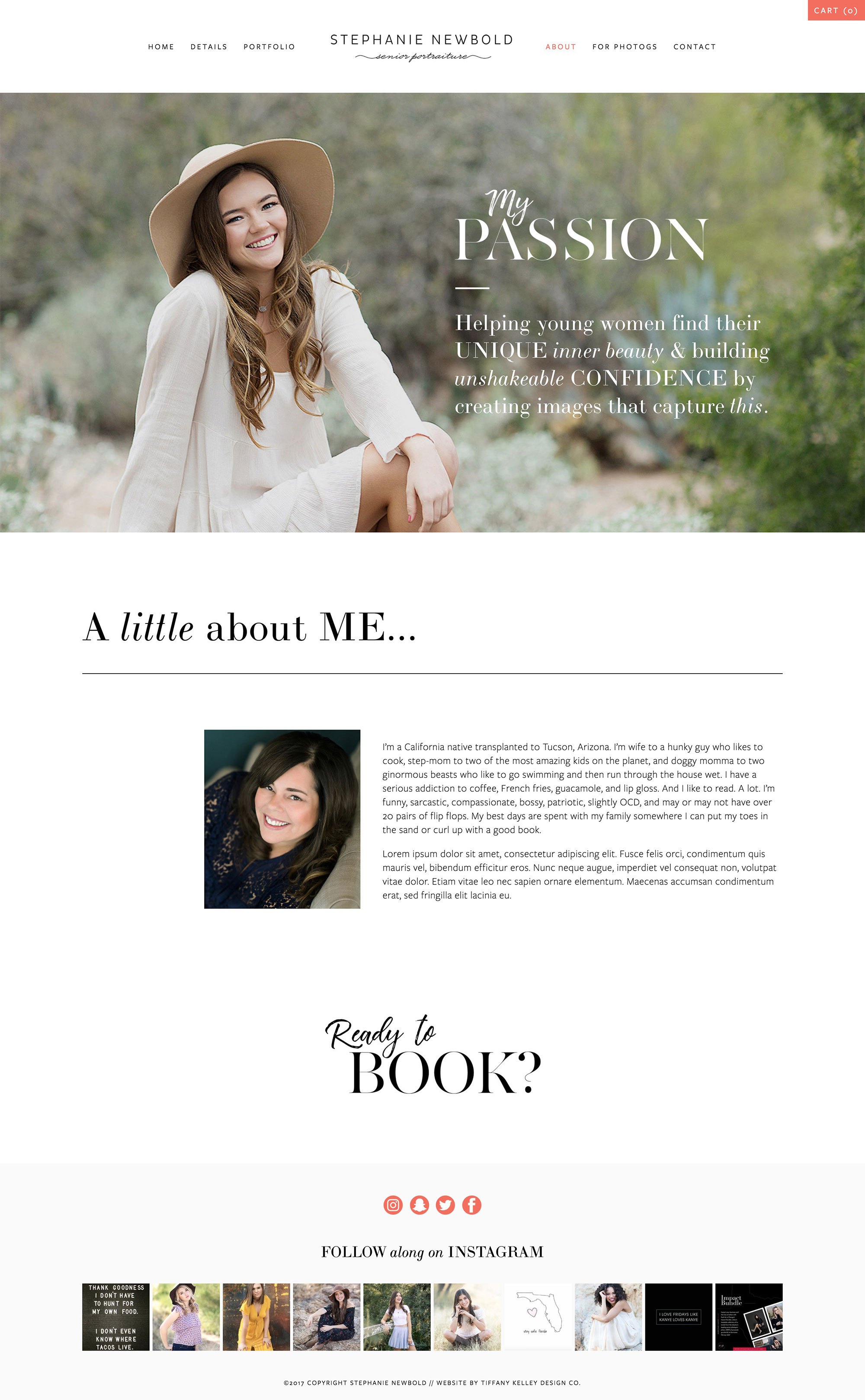 about web design stephanie newbold photography