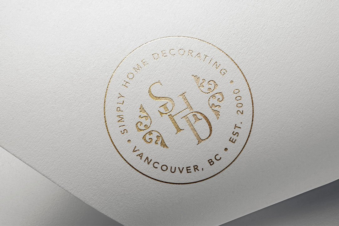alternate logo design luxury branding simply home decorating