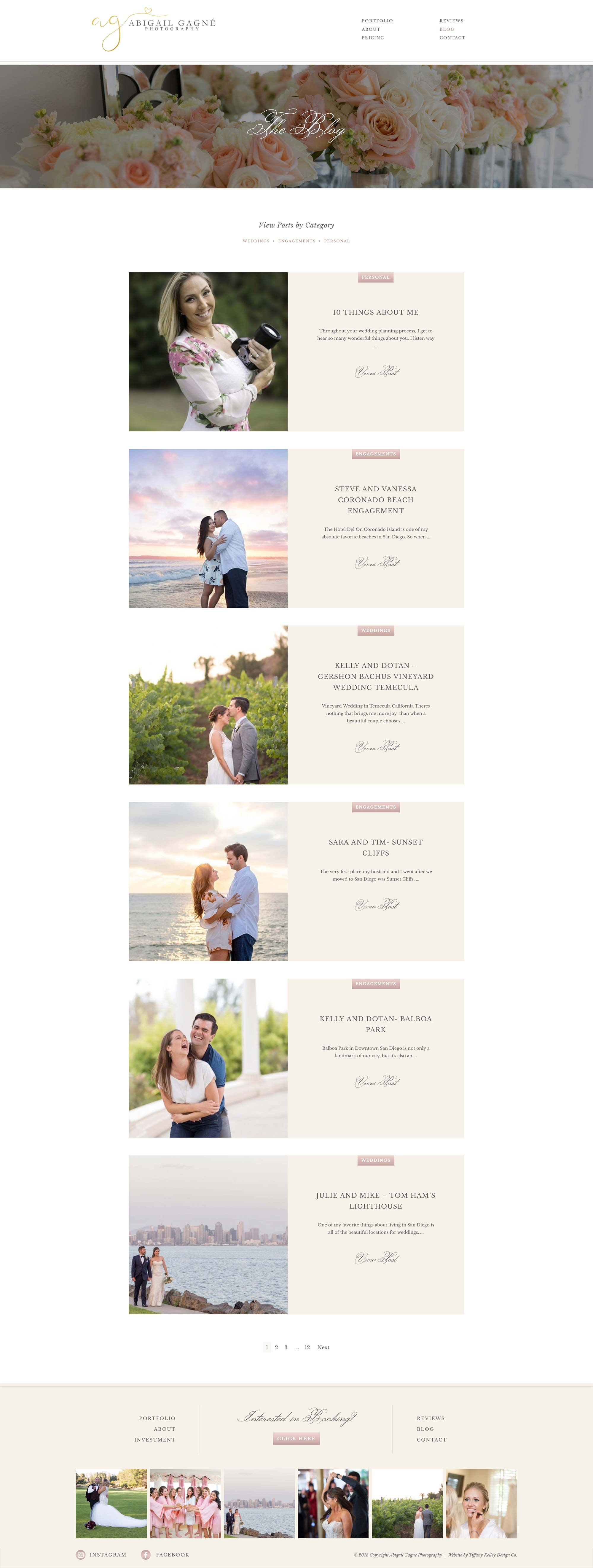 blog web design abigail gagne photography