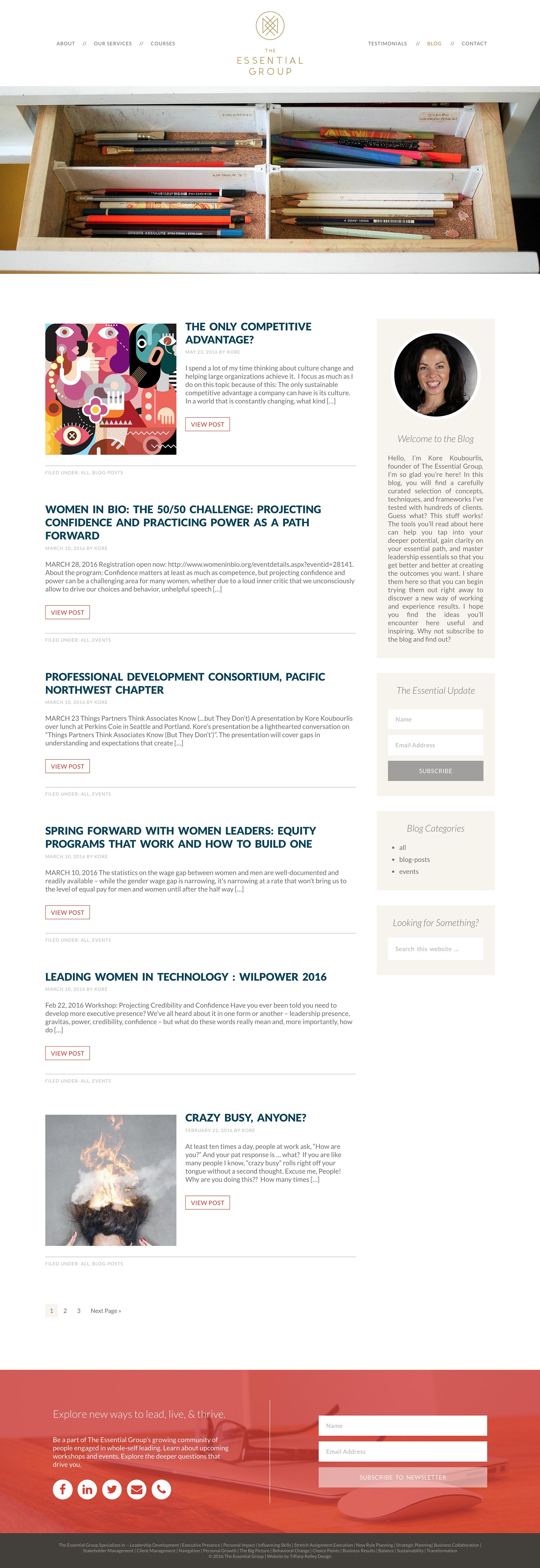 blog web design the essential group