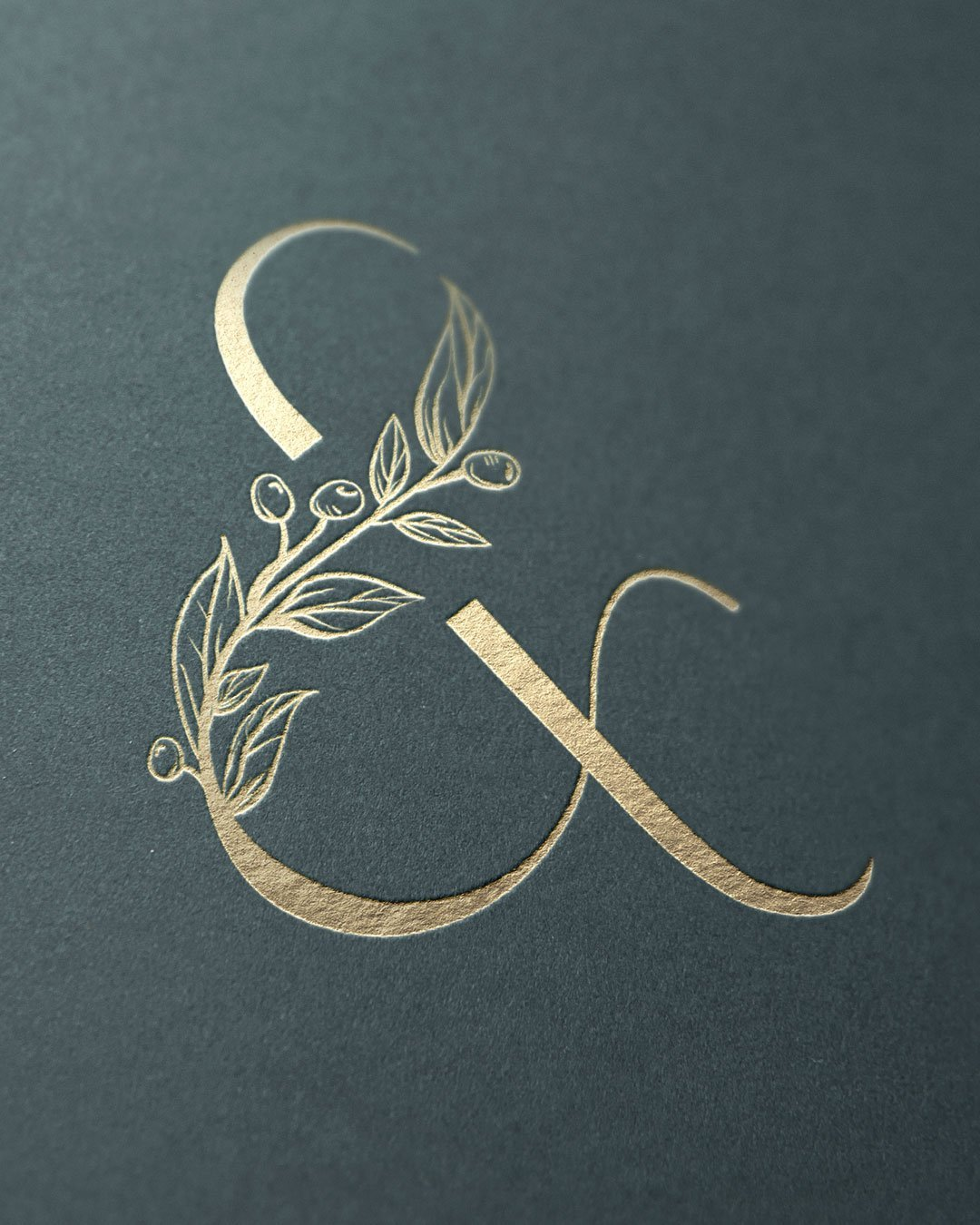 custom ampersand photographer logo design olive pearl photographer by taney creative