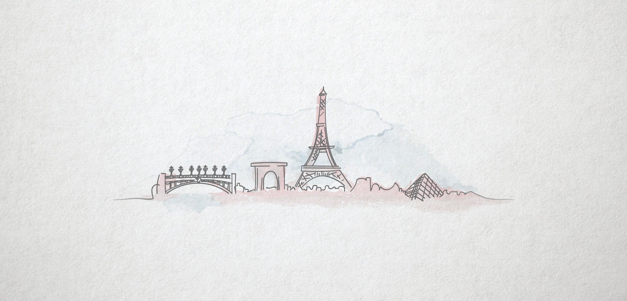 custom illustration watercolor hand drawn pictours paris photography