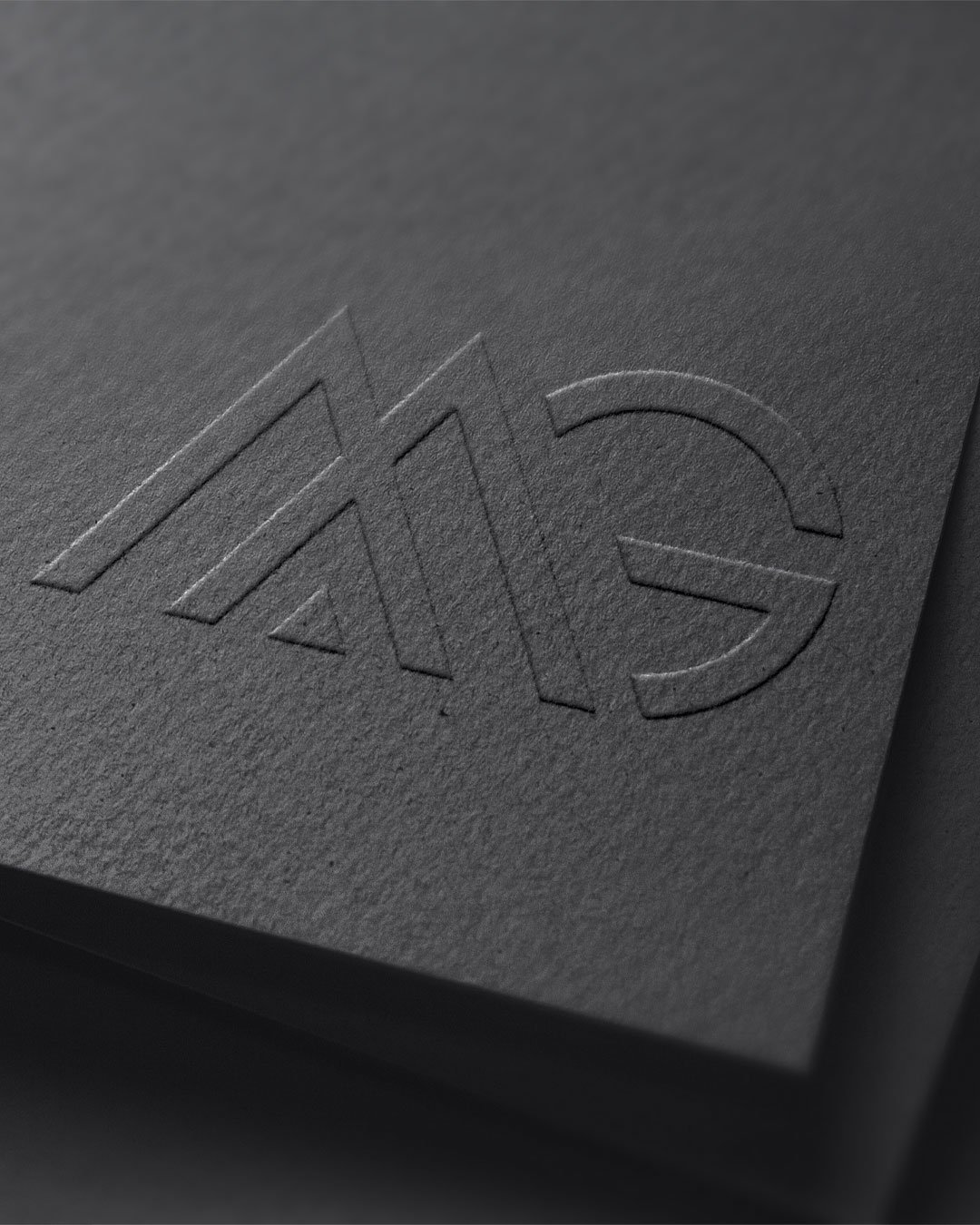custom logo design mg monogram by taney creative