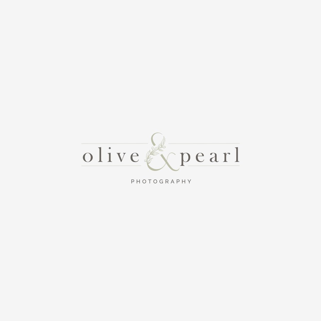 custom logo design photographer olive pearl design by taney creative