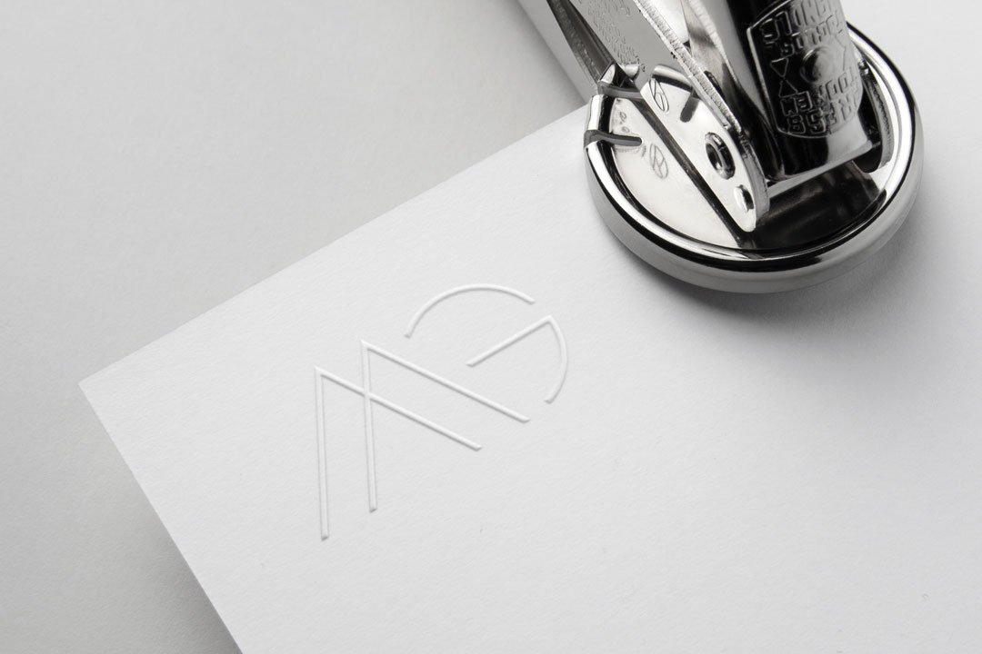 custom monogram logo design mg mayfield group by taney creative