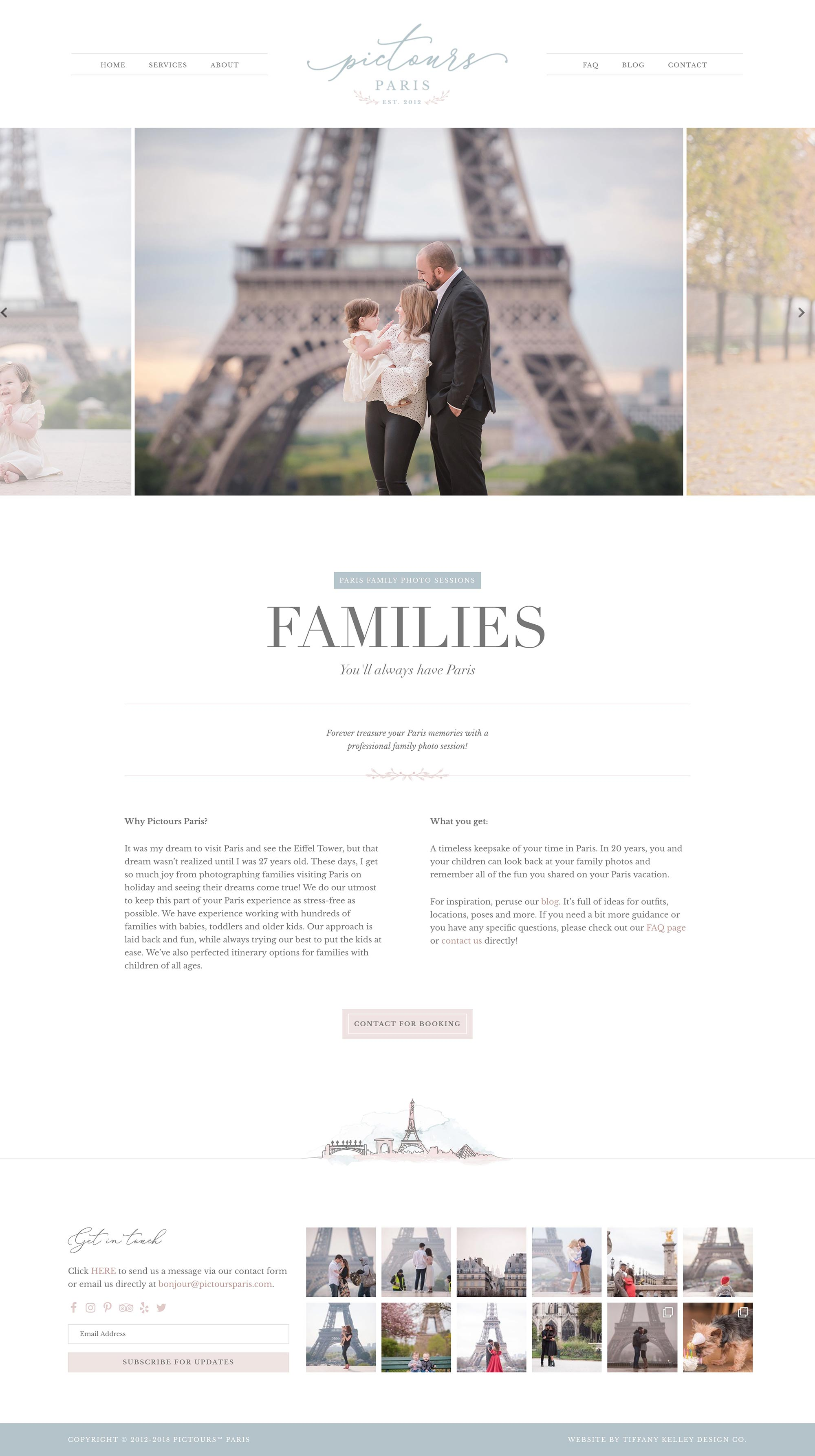 families web design pictours paris photography