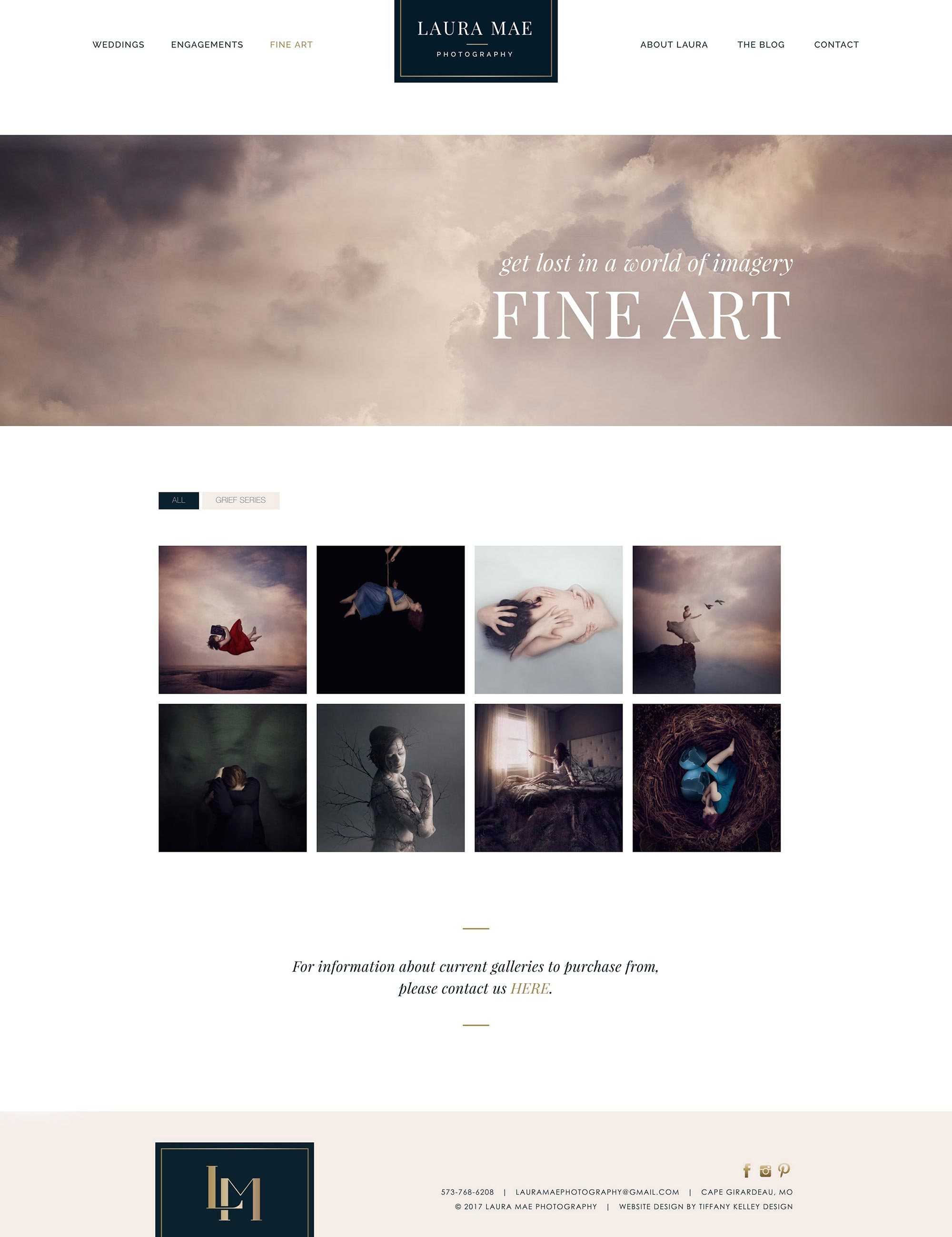 fine art web design laura mae photography