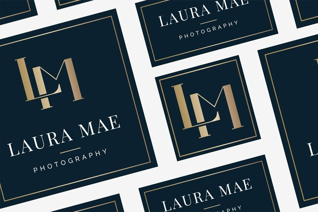 laura mae logo design variations monogram luxe