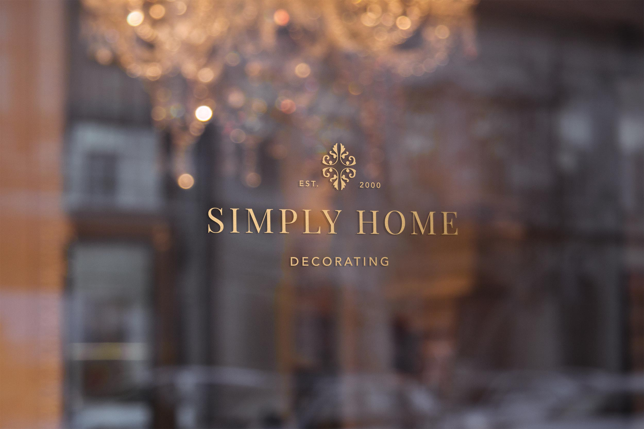 logo design window decal simply home decorating design by taney creative