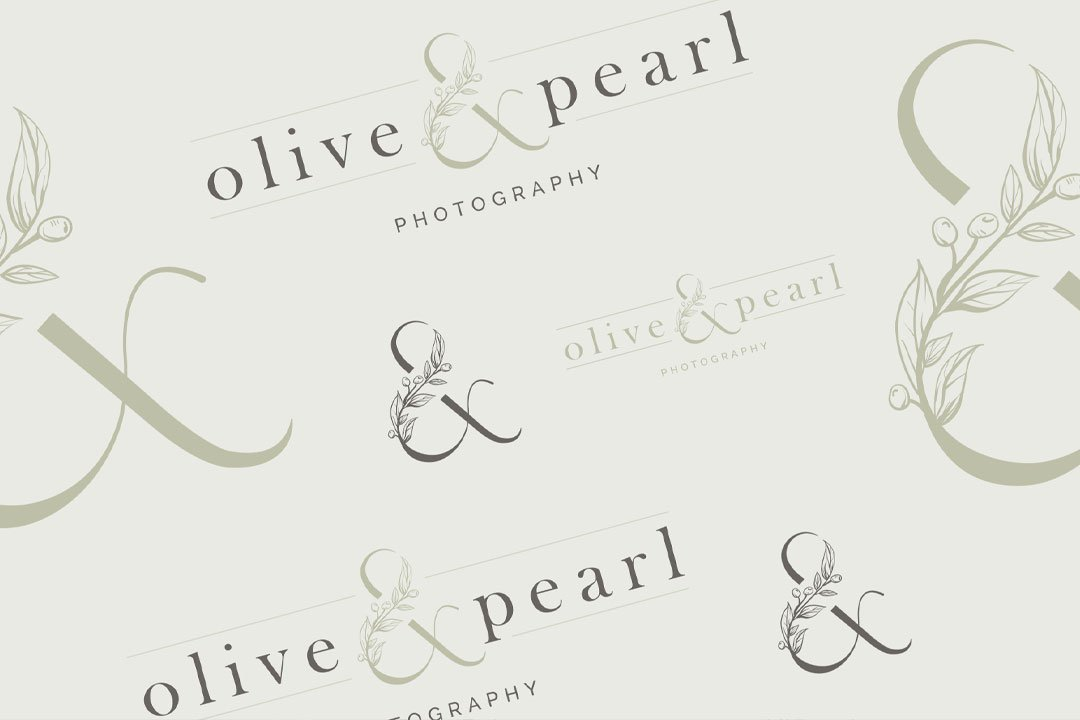 logo variations colors olive pearl photography branding