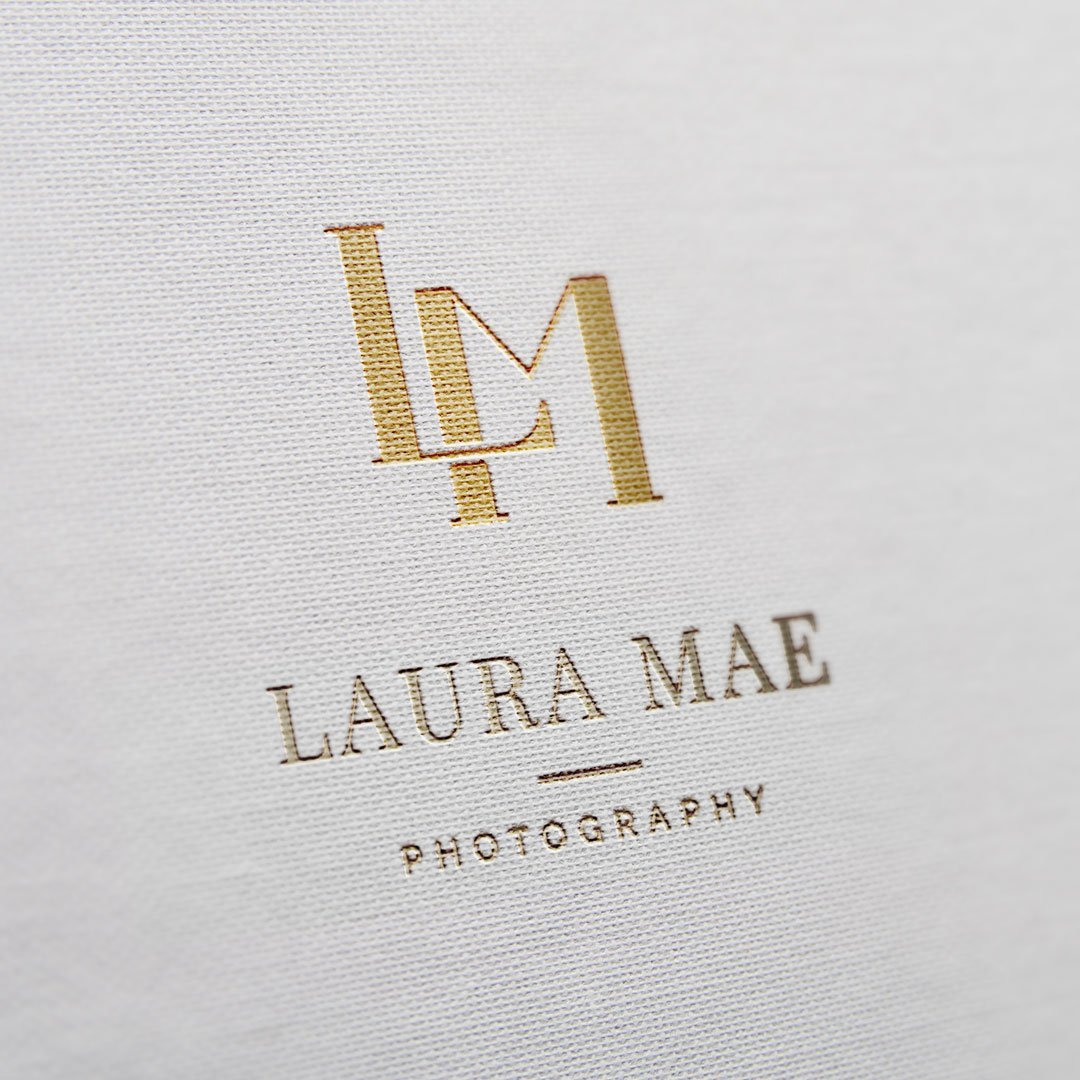 luxury logo design for photographer laura mae photography