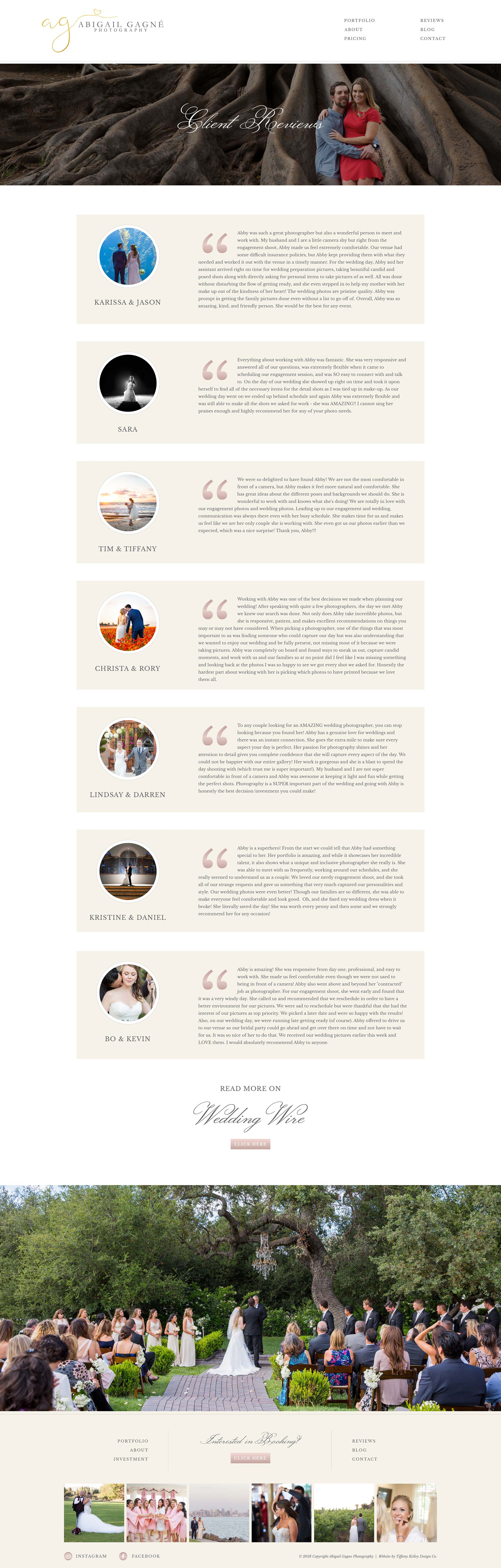 reviews web design abigail gagne photography