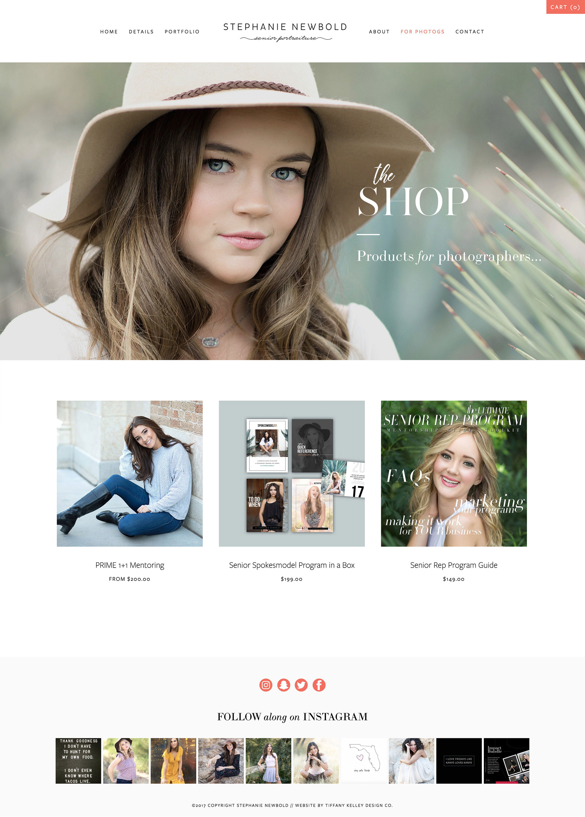 shop web design stephanie newbold photography