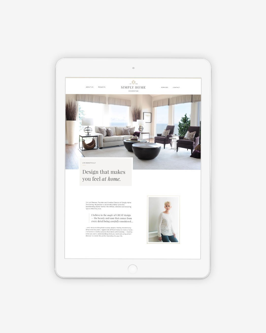 web design tablet simply home decorating interior designer by taney creative