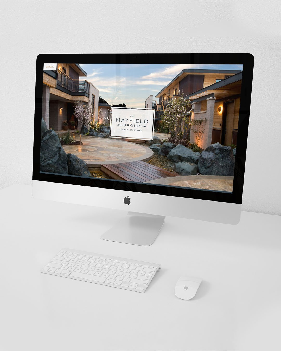 website design full screen desktop mayfield group pr