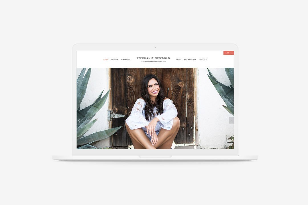 website design full width photo stephanie newbold photography design by taney creative