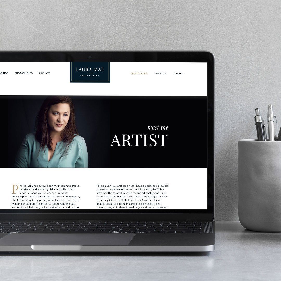 website design laura mae photography by taney creative