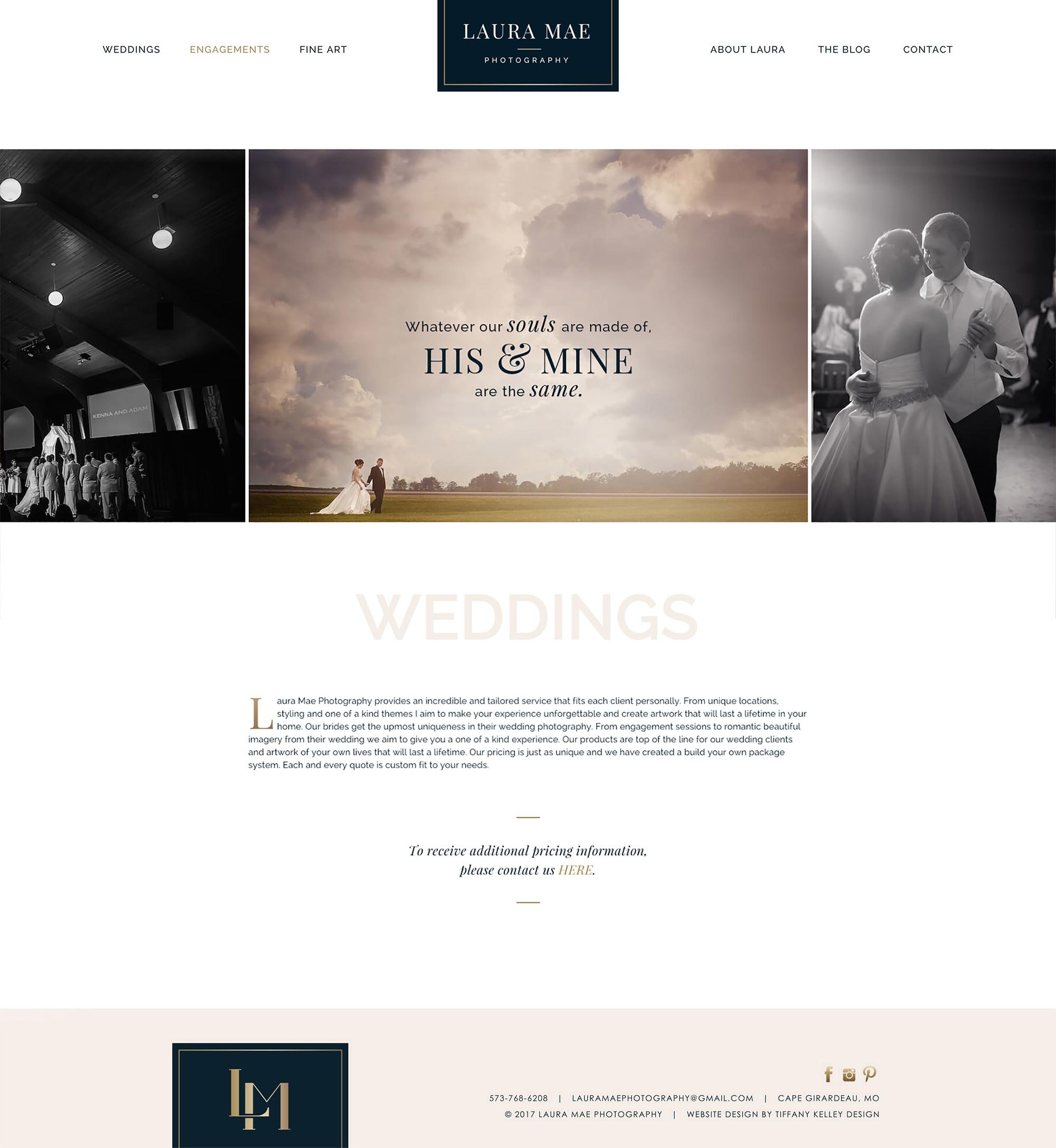 weddings web design laura mae photography
