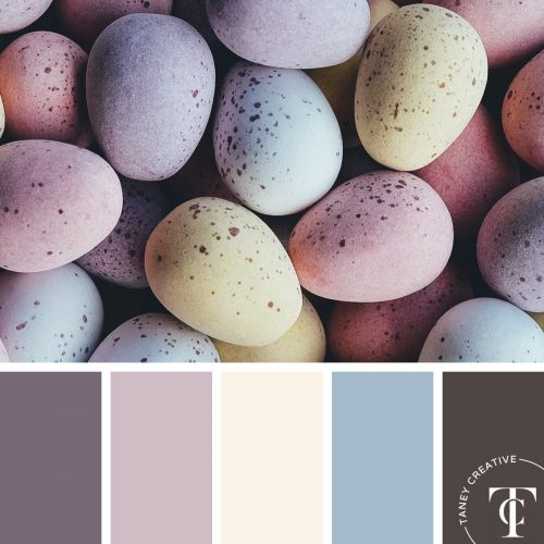 Easter Eggs Color Palette by Taney Creative@1x