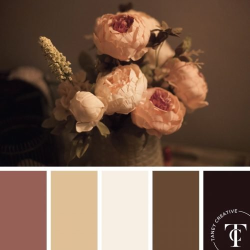 Warm Flower Bouquet Color Palette by Taney Creative@1x