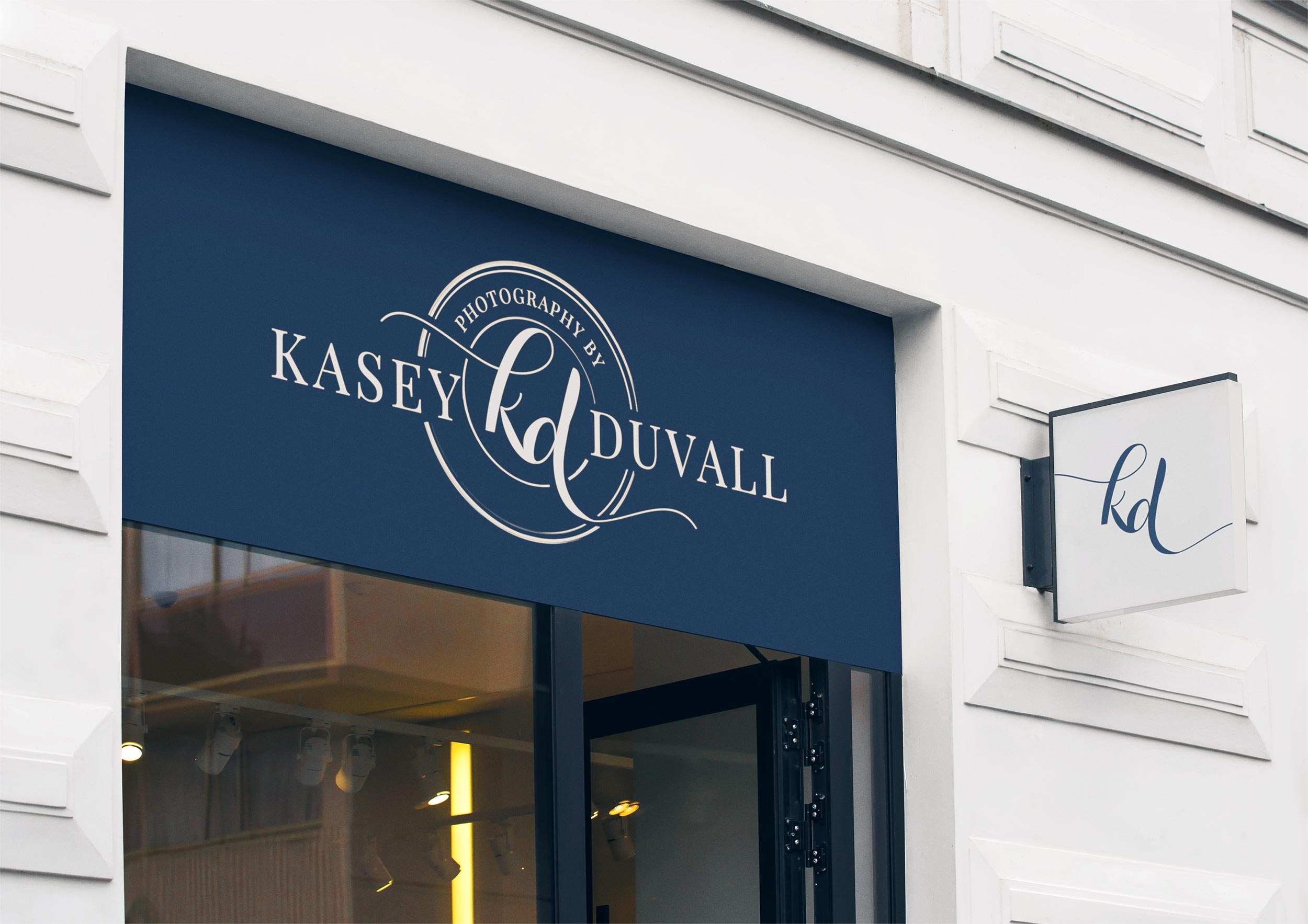 branding for photographer kasey duvall photography by taney creative