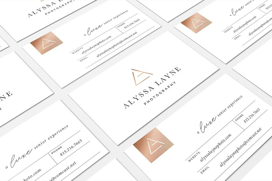 business card design branding senior photographer alyssa layne photography