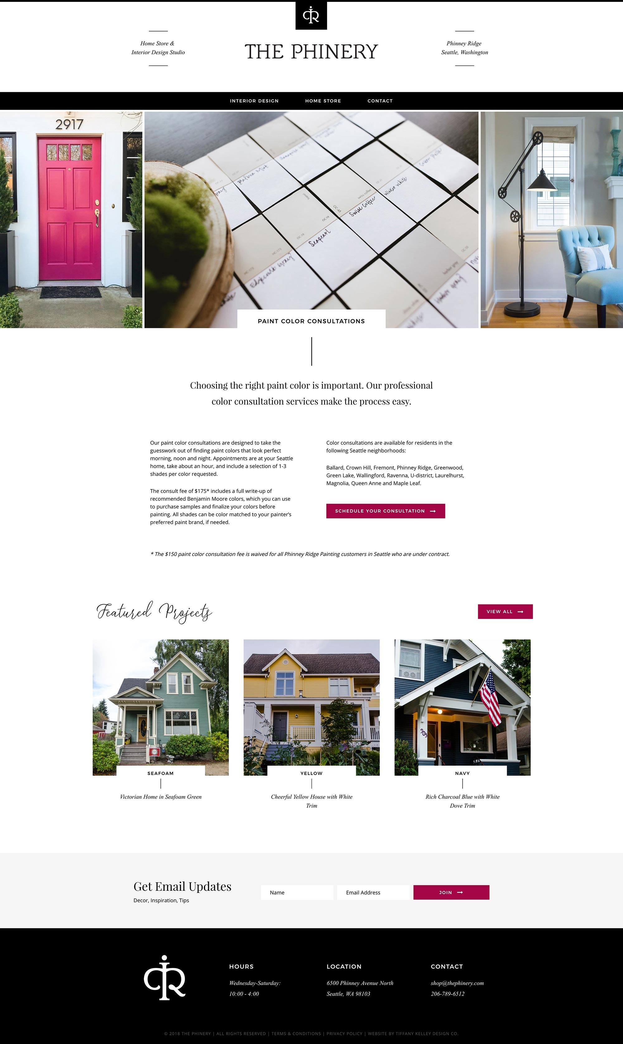 color consult web design the phinery interior designer