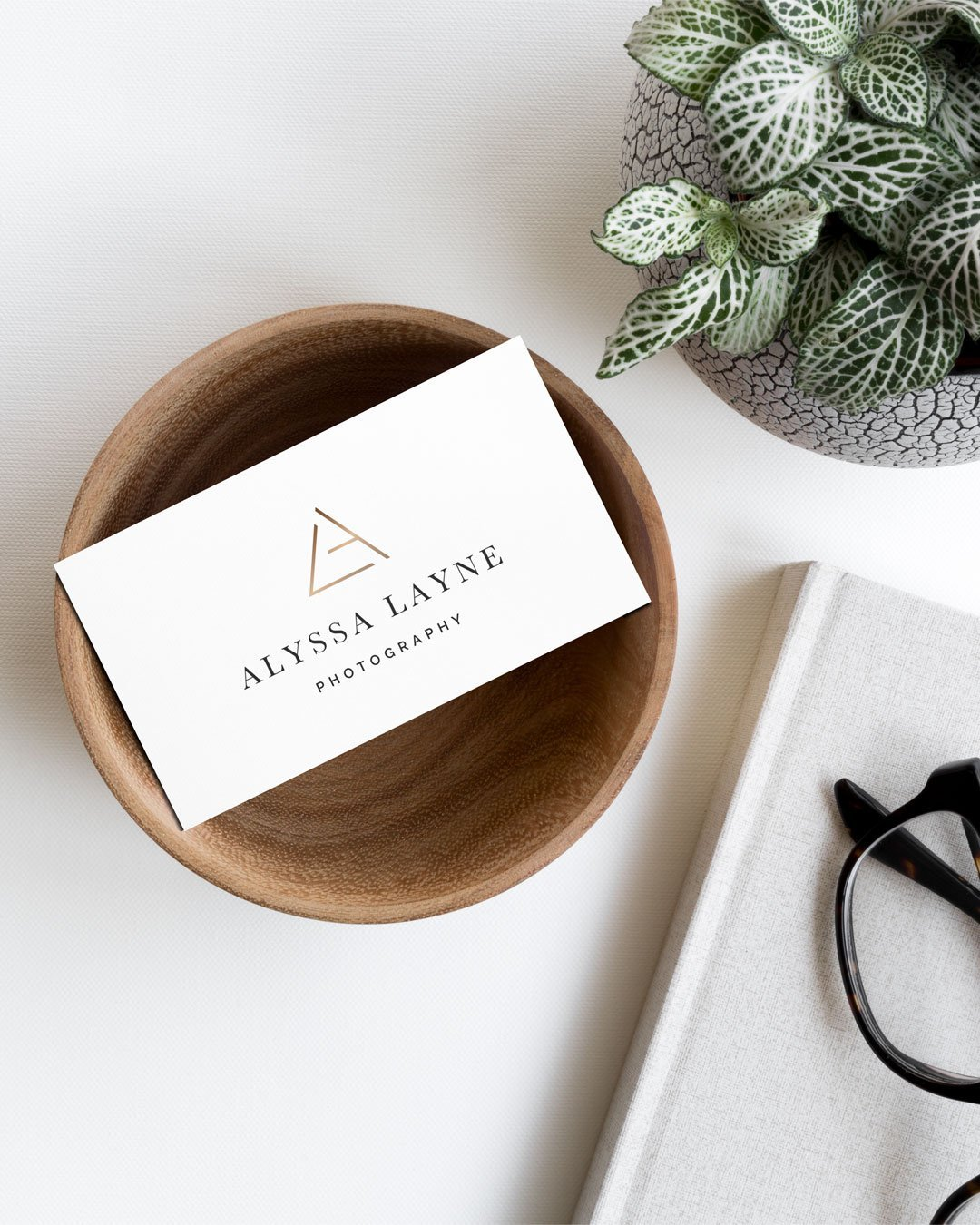custom business card design photographer logo alyssa layne