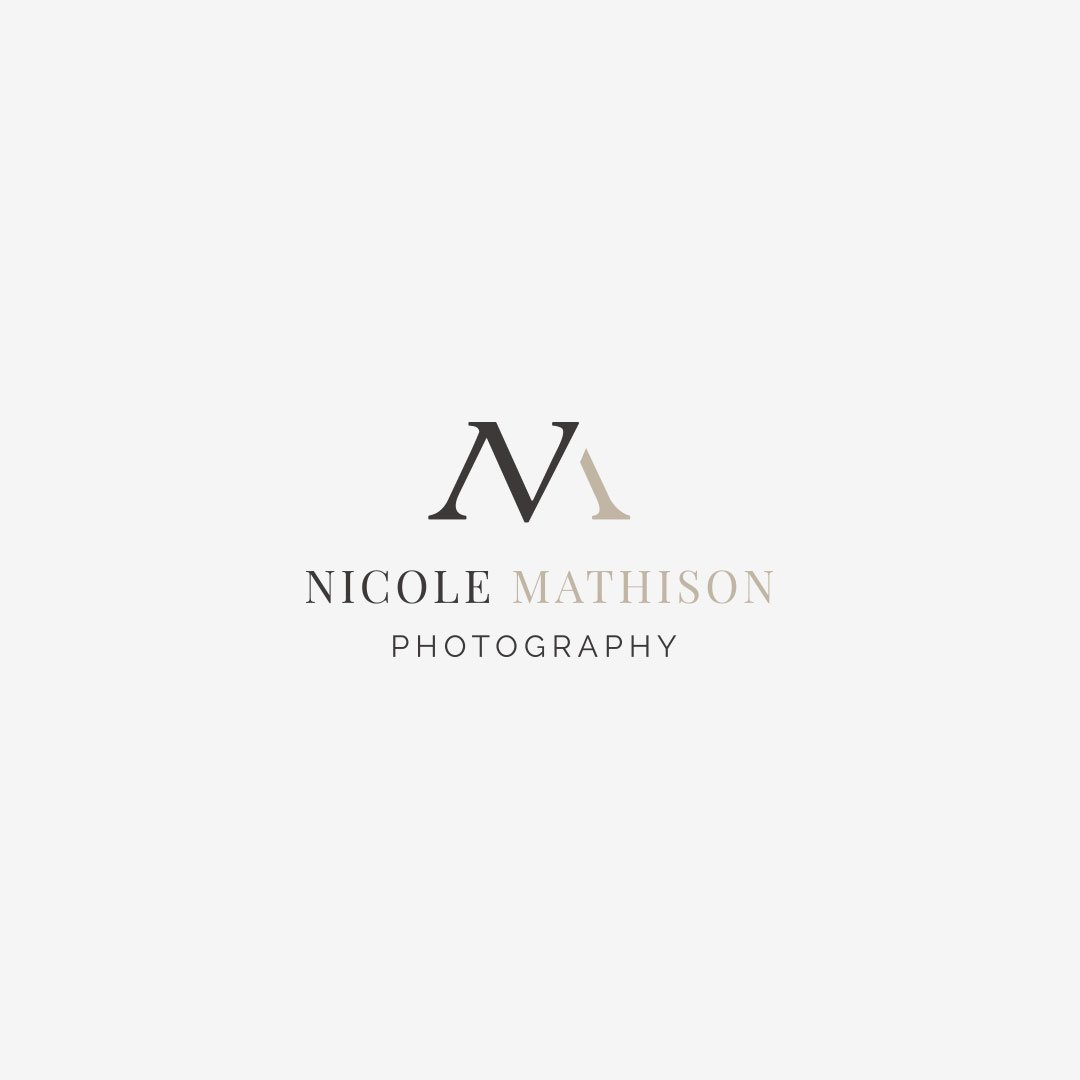 custom logo design nicole mathison photography