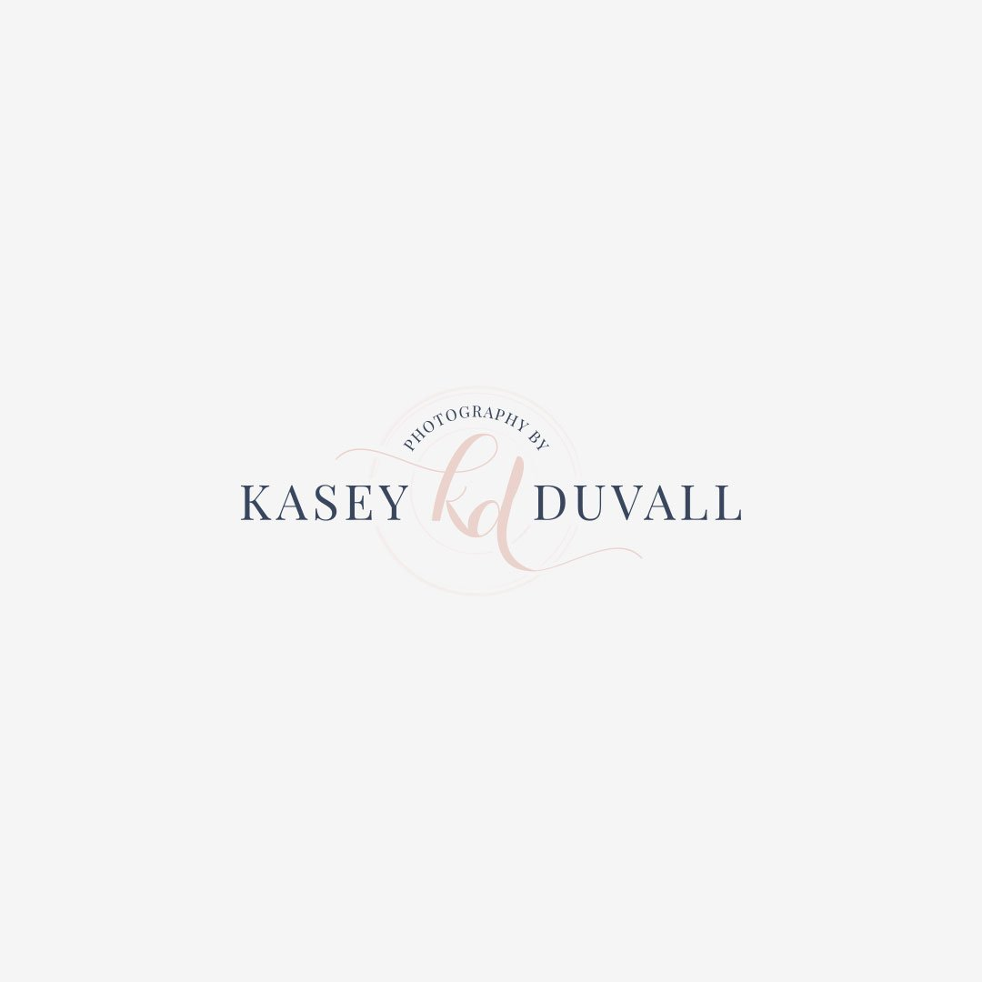 custom photographer logo design kasey duvall photography