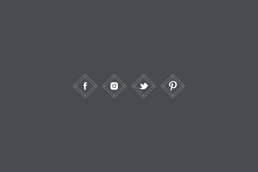 custom social media icons facebook pinterest smj photography branding
