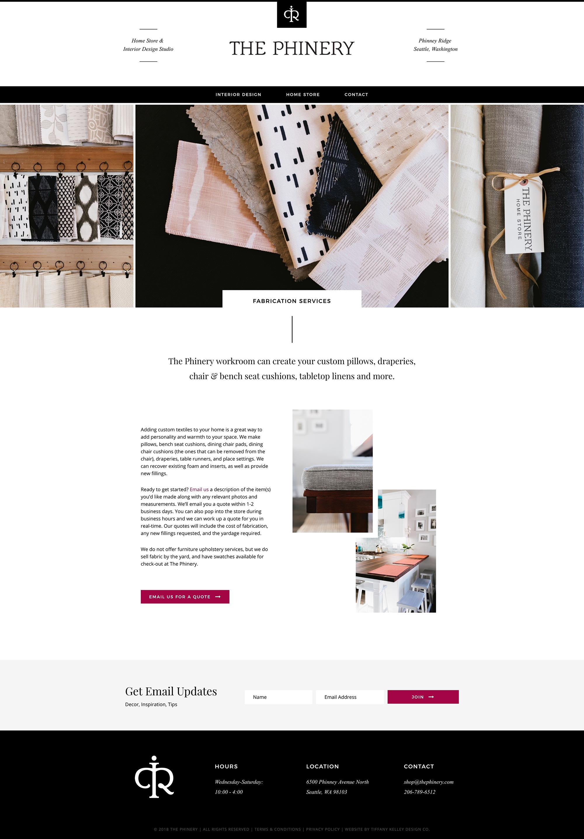 fabrication services web design the phinery interior designer