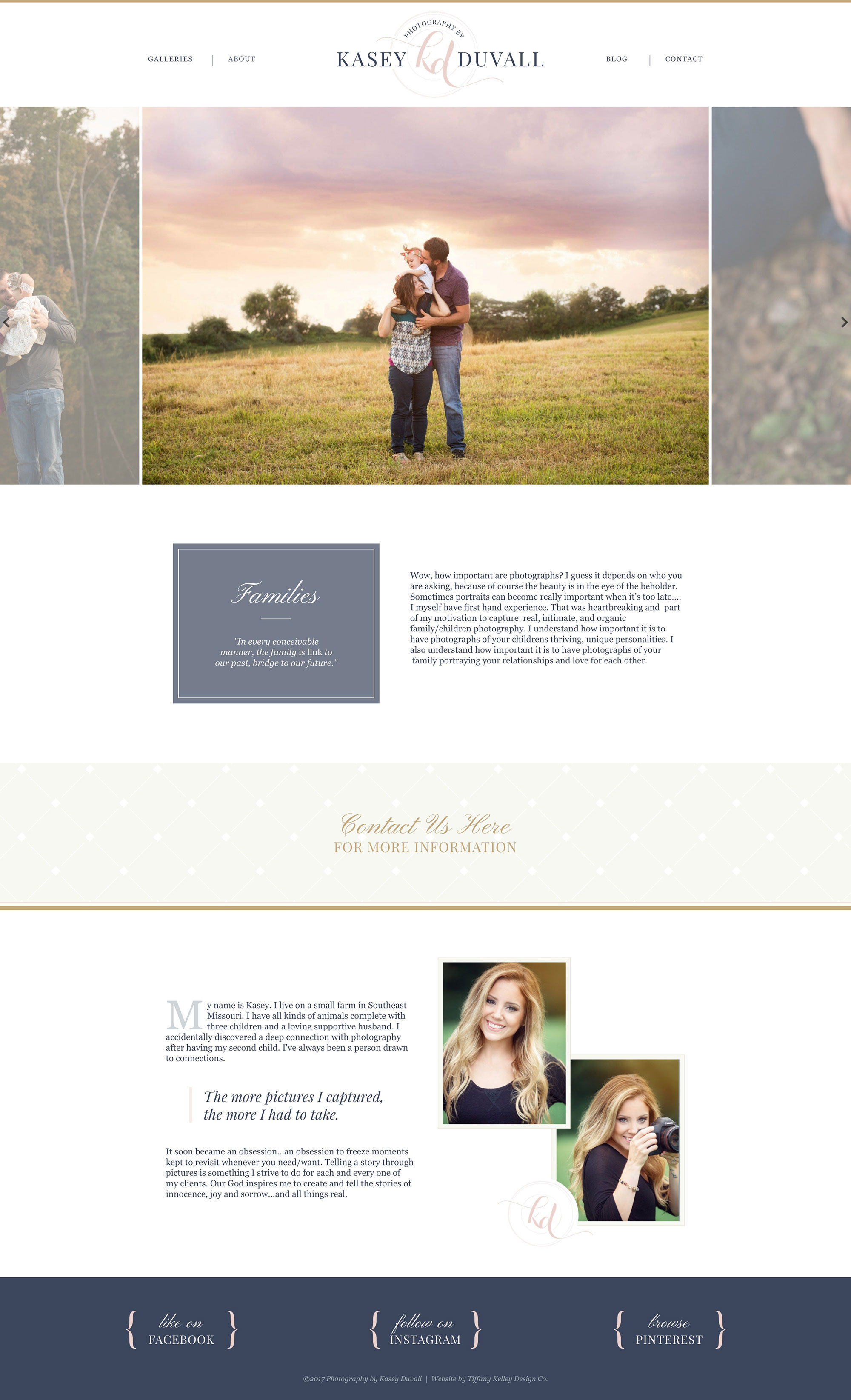 families web design kasey duvall photography