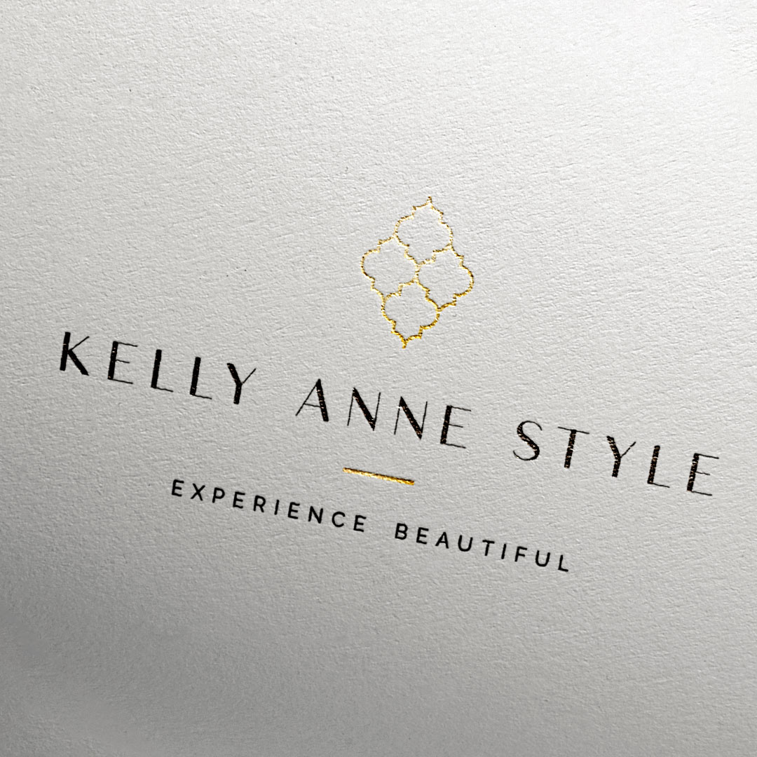 kelly anne style senior photographer branding logo collateral design