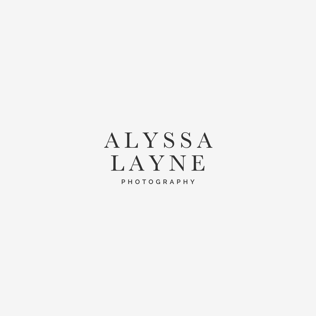 luxury typography wordmark logo design alyssa layne photography