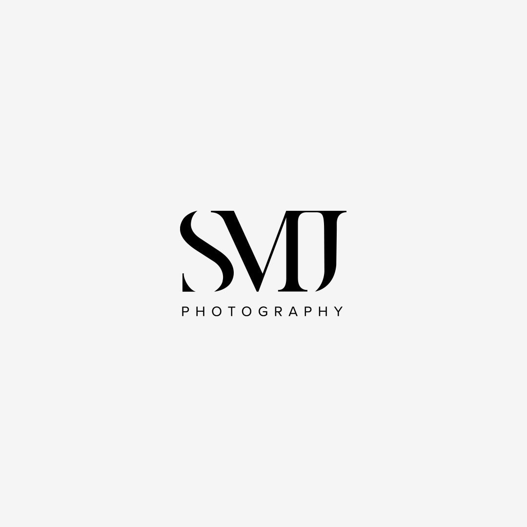 photographer branding logo smj photography upscale design by taney creative