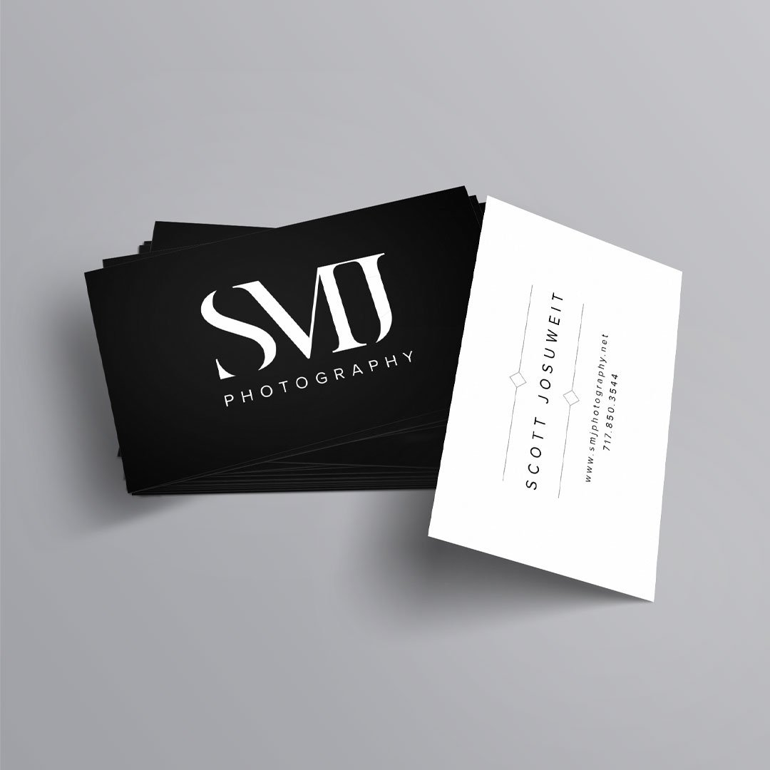 photographer business card smj photography custom design by taney creative