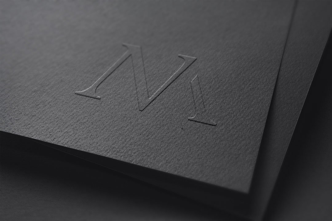 photographer logo nm initials nicole mathison photography design by taney creative