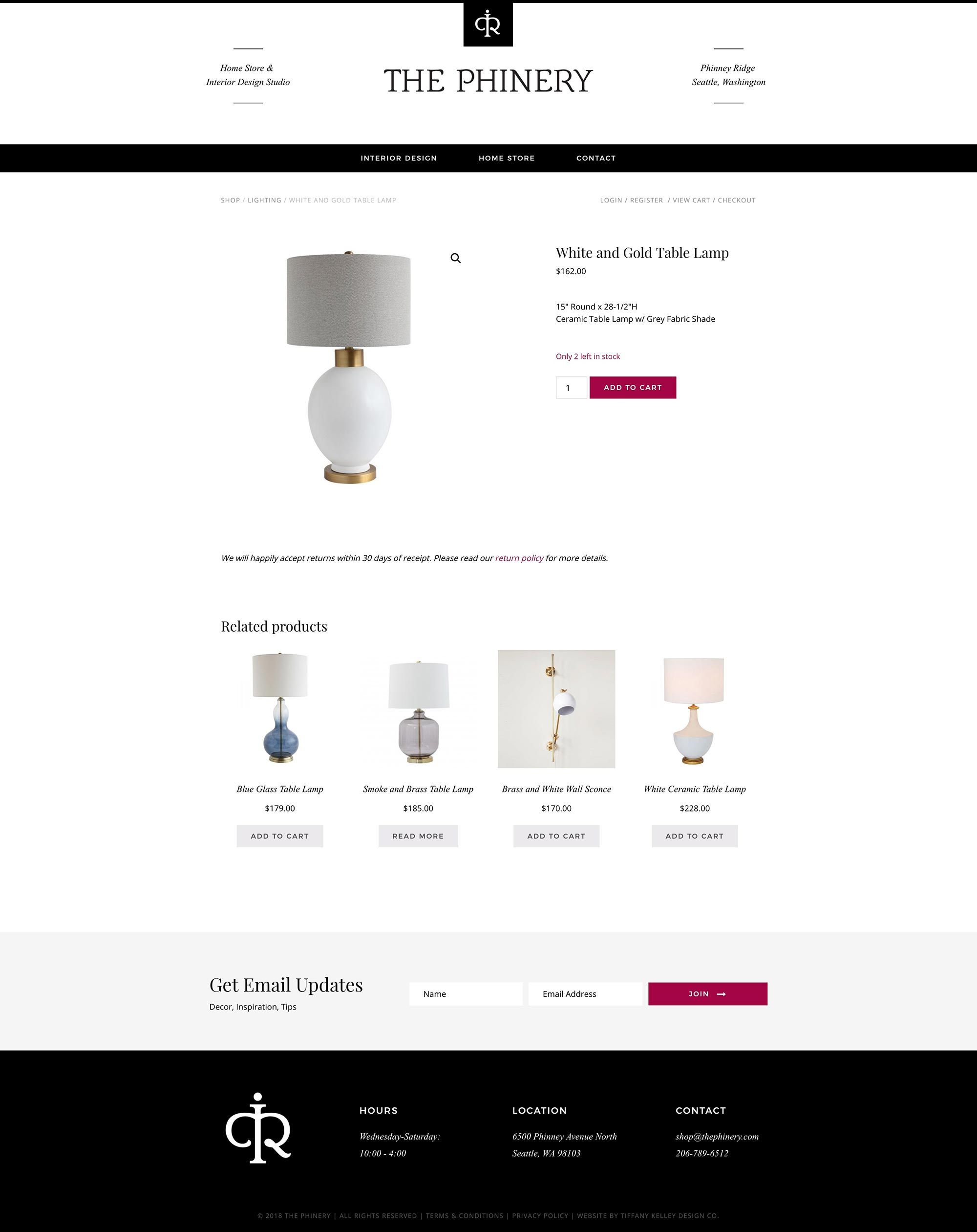 shop product web design the phinery interior designer