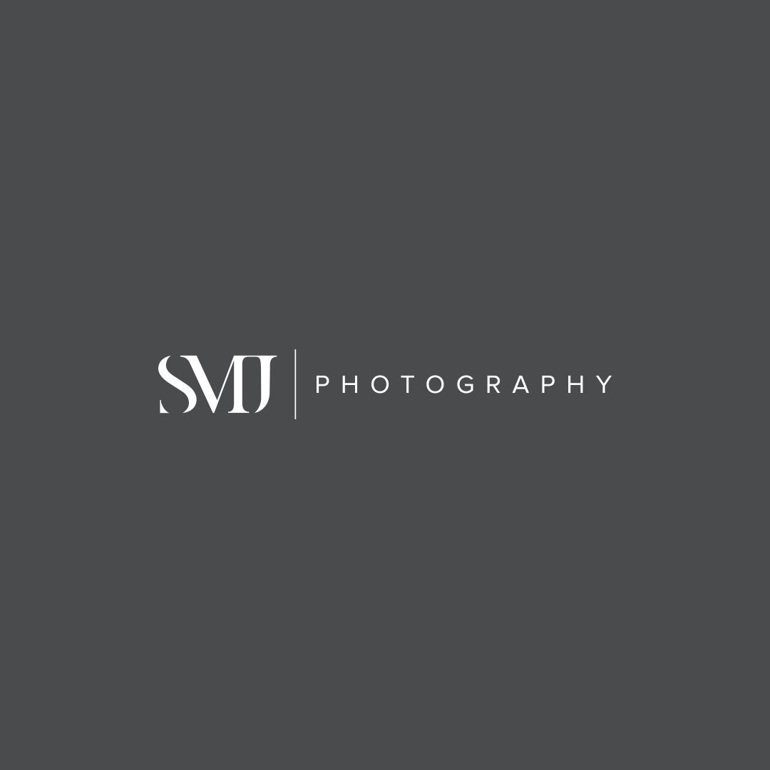 smj photography horizontal logo variation design by taney creative
