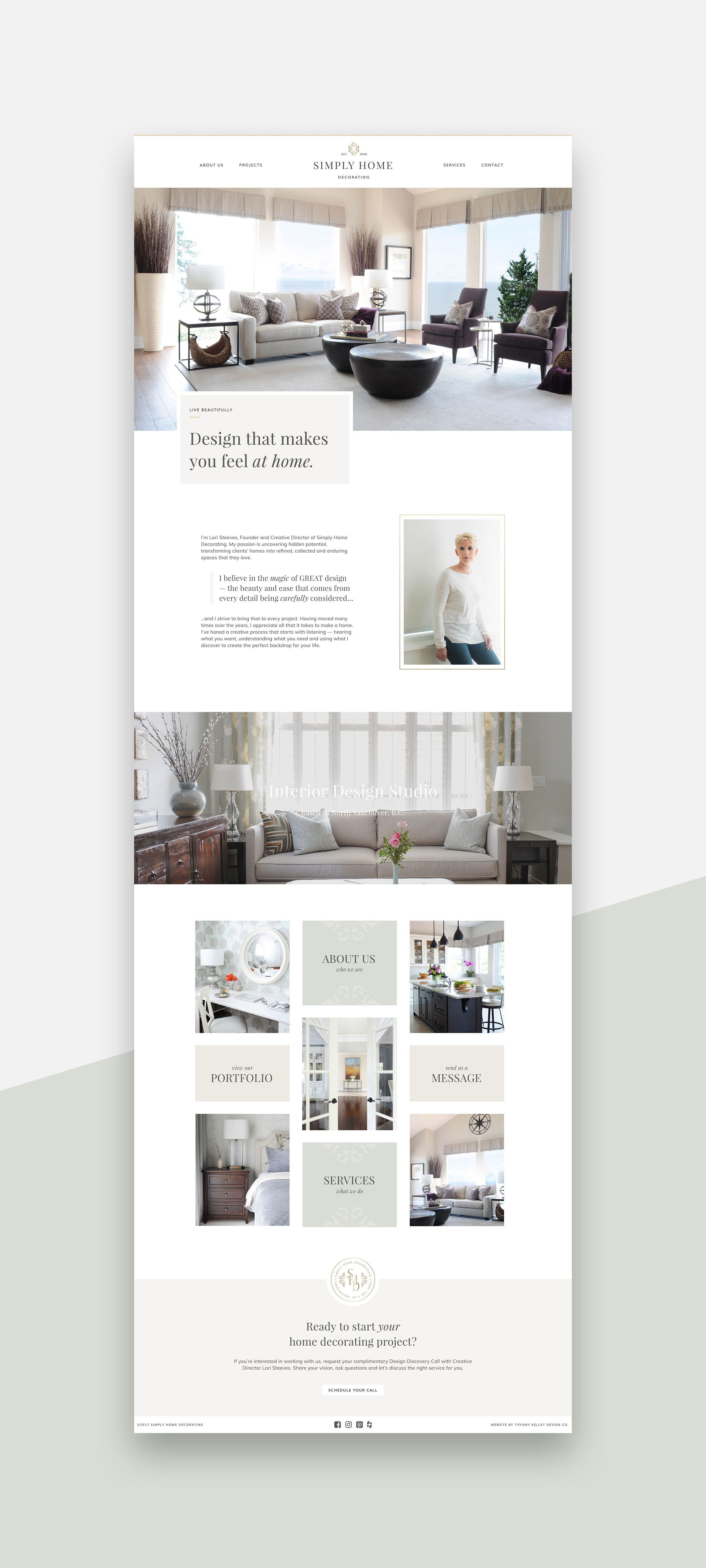 Web Design Simply Home Decorating