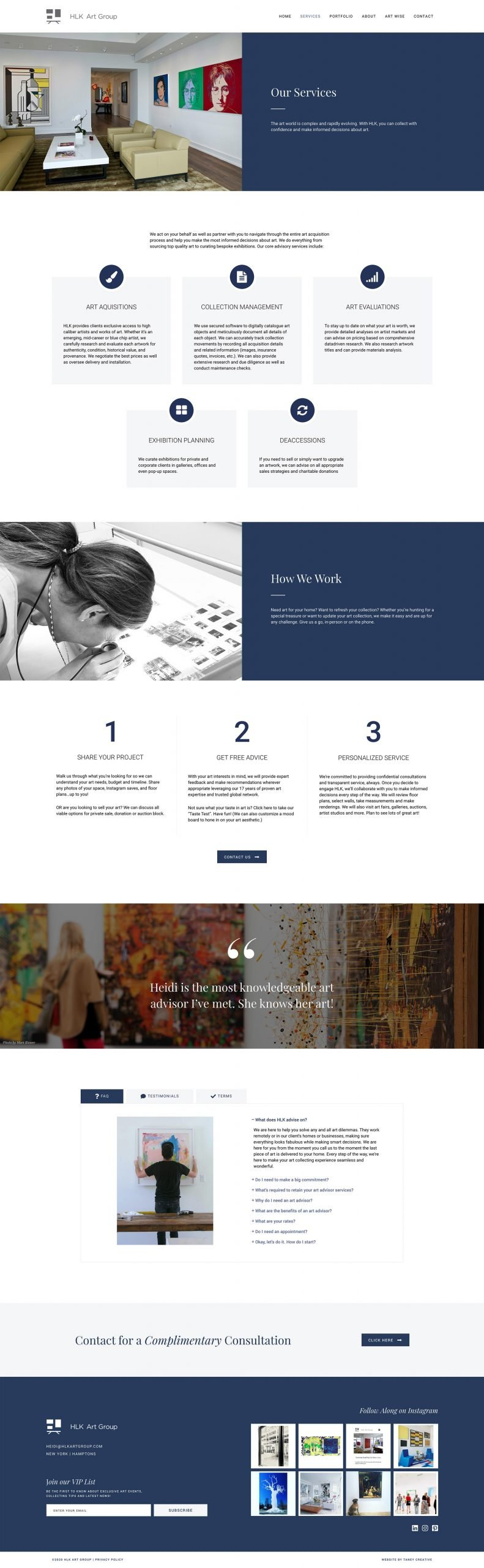 services web design hlk art group