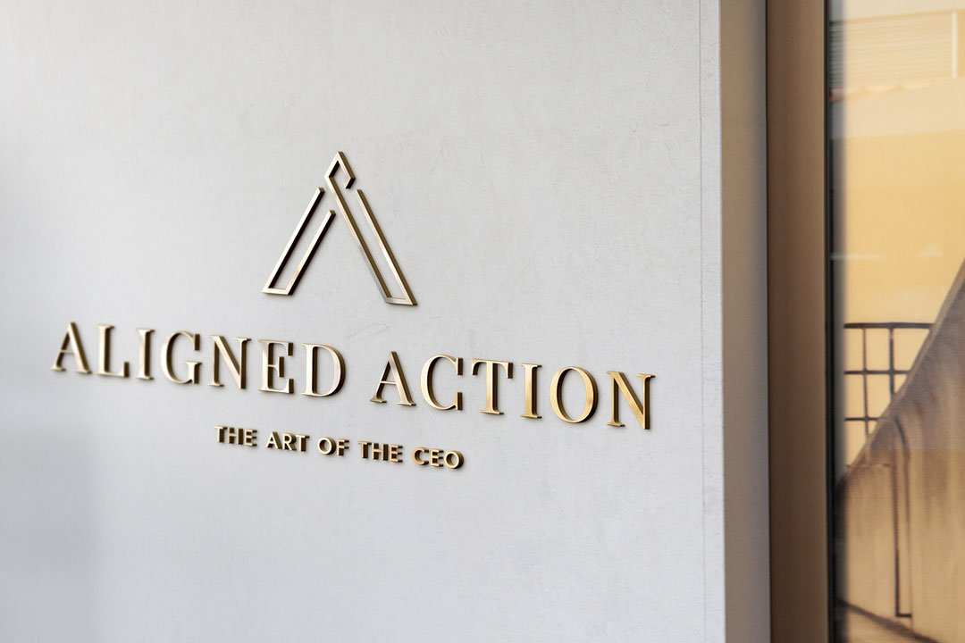 aligned action art of the ceo logo