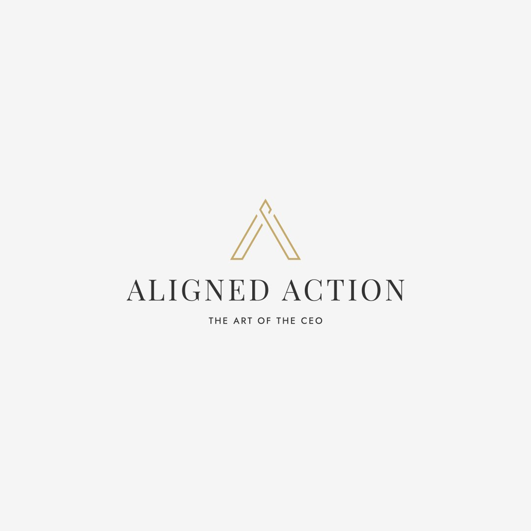 aligned action logo design branding by taney creative
