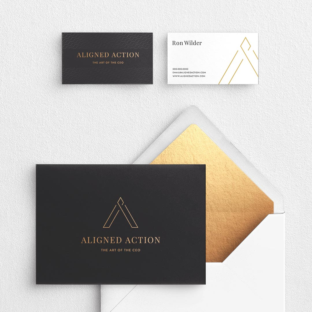 high end business executive branding aligned action