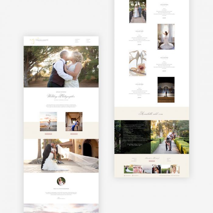 wedding photographer website abigail gagne design by taney creative